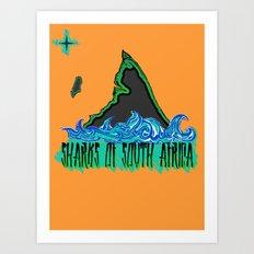 Sharks Of South Africa Art Print