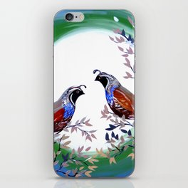 Quails and Serenity iPhone Skin