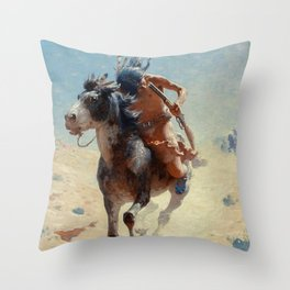 "William Leigh Western Art ""Indian Rider"" Throw Pillow"