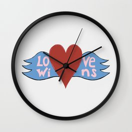Love Wins!  A Valentine to Love. Wall Clock