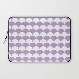 Lavender Fan Shell Pattern Laptop Sleeve