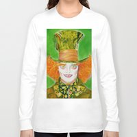 mad hatter Long Sleeve T-shirts featuring Hatter by Aliece Carney