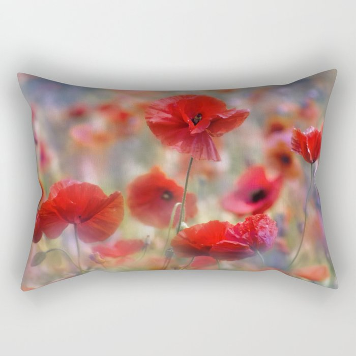 Poppy Tableau Rectangular Pillow
