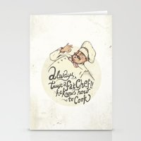 chef Stationery Cards featuring CHEF by Mike Koubou