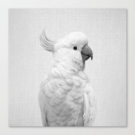 White Cockatoo - Black & White Canvas Print