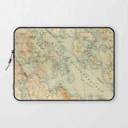 Vintage Map of Lake Winnipesaukee (1907) Laptop Sleeve