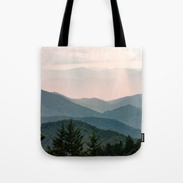 Smoky Mountain Pastel Sunset Tote Bag