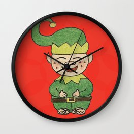 Elf with Jandals Wall Clock