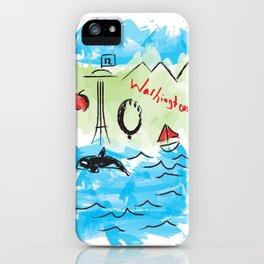 City scape - Seattle, Washington iPhone Case