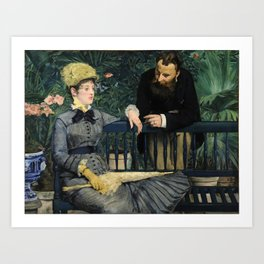 Edouard Manet - In the Conservatory Art Print