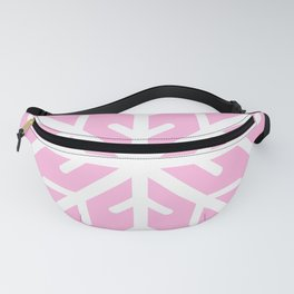 Snowflake (White & Pink) Fanny Pack