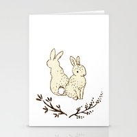 bunnies Stationery Cards featuring bunnies by itsbyrosie