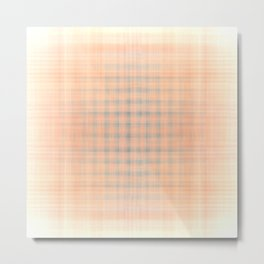 Pink and blue checked pattern Metal Print