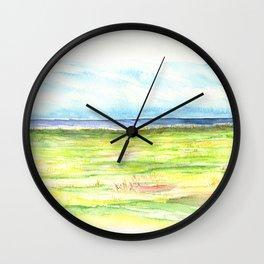 Sea meadow Wall Clock
