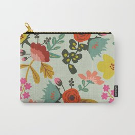 Muted Tone Floral Carry-All Pouch