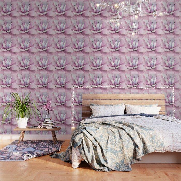 Pink Succulent Wallpaper