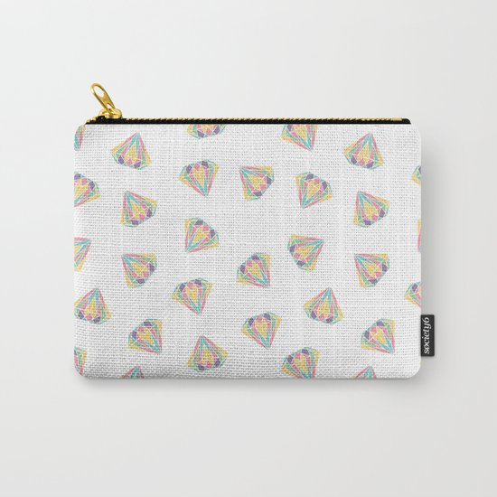 Colorful Diamonds Pattern - gemstones pattern Carry-All Pouch