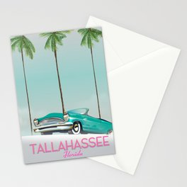 Tallahassee Florida travel poster, Stationery Cards