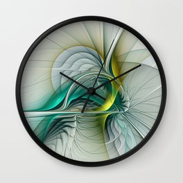 Fractal Evolution, Abstract Art Graphic Wall Clock