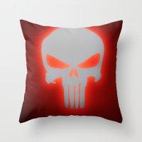 punisher Throw Pillows featuring Punisher 2 by Beastie Toyz