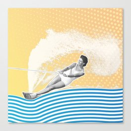 She's Workin' that Rooster Tail Canvas Print