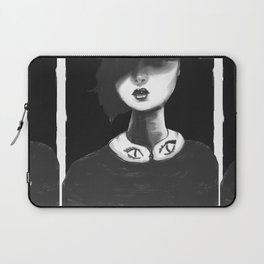Contemporary Black and White Collar Laptop Sleeve