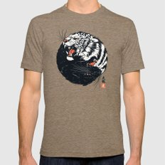 Taichi Tiger X-LARGE Tri-Coffee Mens Fitted Tee