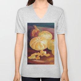 Composition with pumpkins Unisex V-Neck