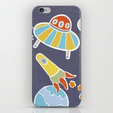 space flying iPhone & iPod Skin