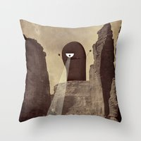 doom Throw Pillows featuring doom! by Pope Saint Victor