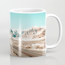 Vintage Desert Road // Winter Storm Red Rock Canyon Las Vegas Nature Scenery View Coffee Mug