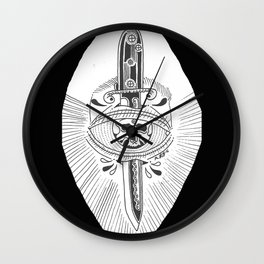 Eye Dagger Wall Clock
