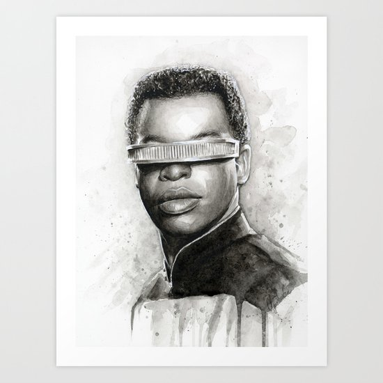 Geordi La Forge Star Trek Art Art Print