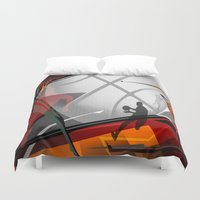 basketball Duvet Covers featuring Basketball by Robin Curtiss