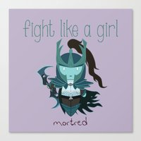 dota Canvas Prints featuring Fight Like a Girl - Dota's Phantom Assassin by ~ isa ~