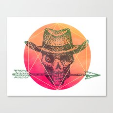 Dead Sheriff Canvas Print