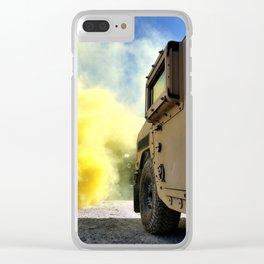 Yellow Smoke Clear iPhone Case