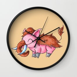 Piggy Mammoth Wall Clock