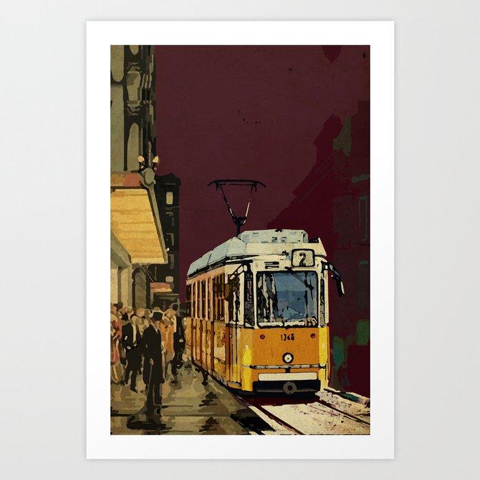 Tram 2 Art Deco Art Print