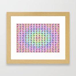 Colorful funny ... Framed Art Print