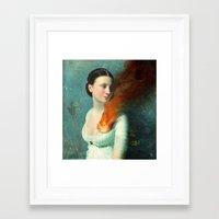 christian Framed Art Prints featuring Portrait of a Heart  by Christian Schloe