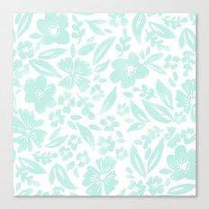 Stamp Floral Pattern Canvas Print