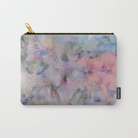 Painterly Soft Flora Abstract Carry-All Pouch