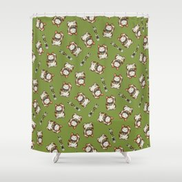 Maneki Neko Mhysa Shower Curtain