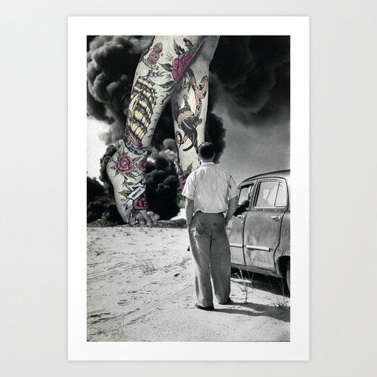 NUMBER 16 (TATTOOS) Art Print