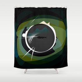 20,000 Leagues Under the Sea Design Shower Curtain