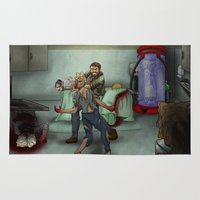 the last of us Area & Throw Rugs featuring The Last of Us by Luis Lara