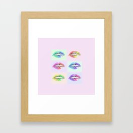 Pop Art Lips Framed Art Print