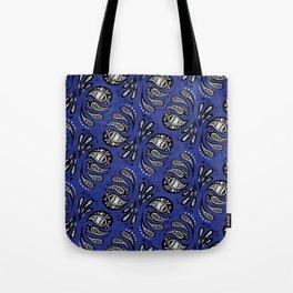 Exotic Tribal Blue Tote Bag