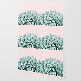 Succulent splendour - blush Wallpaper